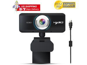 HXSJ S4 Webcam for Streaming HD 1080P - Computer Camera PC Laptop Mac Web Cam with Microphone for Gaming, Video Calling, Recording, Conferencing/ Mic, USB Plug & Play, 360 Degree Rotatable
