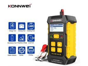 KONNWEI KW510 12V Car Battery Health Tester and Chargers Repairing, Automotive Pulse Repair Maintainer, Trickle Charger Battery Desulfator for Car,Motorcycle,Lawn Mower,Boat RV,SUV,ATV