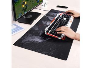 Wanmingtek XL 900*400*2mm World Map Speed Keyboard Mouse Pad Mat Computer Gaming Mousepad Locking Edge Table Mat- Non-slip Rubber Base for PC Computer Laptop