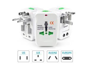 Wanmingtek Universal World Wide Travel Charger Adapter Plug All in One Wall Charger Adaptor Adapter Works In More Than 160 Countries Including EU UK US AU JP CHN