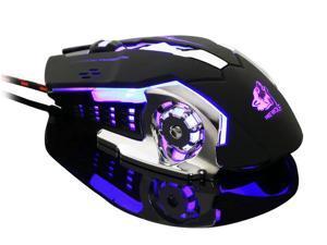 Wanmingtek Wired Gaming Mouse, 4000 DPI Metal Base Gaming Mouse Mice for PC Laptop Cuomputer Macbook Gamer Black