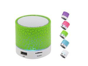 Wanmingtek Portable Wireless Bluetooth Speaker,Hica Mini Wireless Hands Free Crackle Bluetooth Speaker Support Music FM Radio TF Card USB Flash Drive Built-in Microphone with LED lights for Phone,MP3