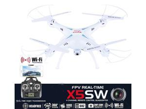 Syma X5SW-E2 Explorers2 2.4GHz 4CH WiFi FPV RC Quadcopter Drone with Camera 0.3MP HD 6 Axis 3D Flip Flight Toys for Children White