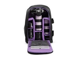 "Wanmingtek Upgrade Waterproof Digital DSLR Photo Padded Backpack w/ Rain Cover Laotop 15.6"" Multi-functional Camera Soft Bag Video Case"