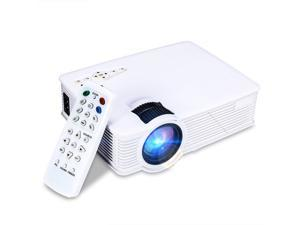 "1200 Lumens Mini LED Home Theater Projector, Max 120"" Screen Full HD 1080P Multimedia Portable Video Projector for Home Cinema Theater Entertainment and Games, Perfect Gift for Your Family-White"
