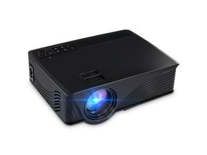 "1200 Lumens Mini LED Home Theater Projector, Max 120"" Screen Full HD 1080P Multimedia Portable Video Projector for Home Cinema Theater Entertainment and Games, Perfect Gift for Your Family-Black"