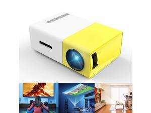 Wanmingtek HD 1080P Portable Mini Pico Full Color LED LCD Projector for Children Present, Video TV Movie, Party Game, Outdoor Entertainment with HDMI USB AV Interfaces and Remote Control