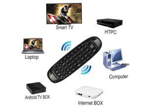 Jansicotek C120 Pro 2.4G Mini Wireless Remote Keyboard Mouse with 3-Gyro & 3-Gravity Sensor for PC HTPC IPTV Smart TV and Android TV Box Media Player (Upgrade Ver)