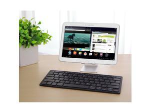 Wanmingtek Bluetooth Keyboard, Universal Wireless Bluetooth Keyboard Ultra Slim for Apple iOS iPad Pro, mini 4, iPhone X/8/7Plus/6, Android Tablets (Galaxy Tab), Windows Mac OS 6.0 & later (White)