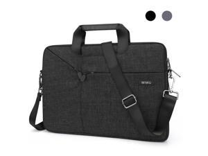 WIWU 11.1 / 11.6 Inch Laptop Bag Message Bag with Straps for Men Briefcase Waterproof Laptop Case Laptop Bags Computer Bag Gifts for Men Laptop Sleeve Case Business Travel Bag (11 inch, Black)