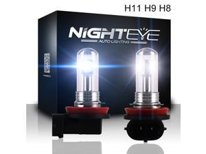 NIGHTEYE Super Bright H11 / H8 / H9 LED White Color LG Chips 80W Car Lights Bulbs for DRL or Fog Lamp Plug-n-Play(pack of 2)