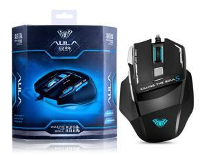 AULA Killing Soul 2 Gaming Mouse, Wired Computer Gaming Mouse with 7 Buttons, 3500DPI, Breathing Backlit LED, Ergonomic Grip Game Mice for PC Gamer