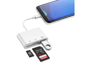 """Wanmingtek USB C to SD Card Reader, 3 in 1 USB C to USB OTG Adapter, Type C Micro SD Card Adapter, USB Camera Connection Kit for New iPad Pro 11""""/12.9"""" 2018, MacBook Pro, ChromeBook, XPS and More"""