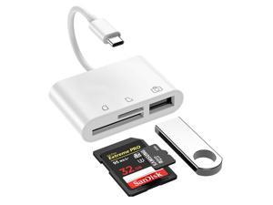 "Wanmingtek USB C to CF Card Reader, SD Card Reader, Camera Memory Card Reader, Type C Micro SD Card Adapter for New iPad Pro 11""/12.9"" 2018, MacBook Pro, ChromeBook, XPS and More"