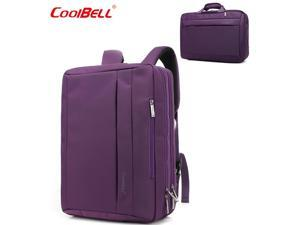CoolBELL Convertible 17.3 Inch Laptop Backpack 3 in 1 Travel Busniess Multi-functional Shoulder Briefcase Water Repellent College School Computer Bag, CB-5501 Purple
