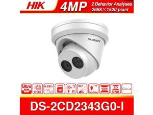 Hikvision 4MP Outdoor PoE IP Camera DS-2CD2343G0-I 2.8mm , Dome Network Securty Camera with 2688×1520 30fps, EXIR 98ft Night Vision, Smart H.265+ WDR, SD Card Slot, VCA, IP67 , 1Pcs