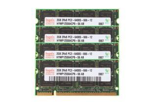 Hynix 8GB (4X 2GB) 2Rx8 PC2-6400 DIMM DDR2 800Mhz 1.8V 200pin Laptop Memory RAM