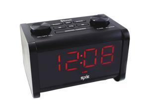 Sxe SXE86011 Bluetooth Speaker Fm Alarm Clock Radio