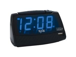 Sxe SXE86034 Alarm Clock With Usb Charging Port