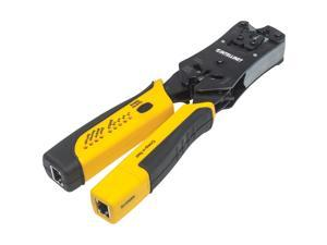 Intellinet 780124 All-In-One Professional Modular Crimping Tool With Cutting, Stripping And Cable-