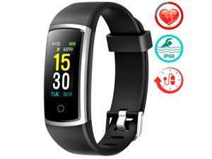 Fitness Tracker with Blood Pressure HR Monitor - Upgraded Activity Tracker Watch with Heart Rate Color Monitor IP68 Pedometer Calorie Counter and 14 Sports Tracking for Women Kids Men
