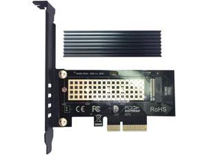 GLOTRENDS M.2 PCIE NVME Adapter Card with Full Covering Aluminum Heatsink for PC Desktop, PCIE GEN3 Full Speed (PA09-HS)