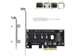 NVMe PCIe Adapter, M Key M.2 NVME SSD to PCI-e 3.0 x4 Host Controller Expansion Card with Low Profile Bracket, PCIe NVME Adapter for PC Desktop Support 2230 2242 2260 2280