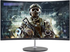 "24"" Curved 75Hz Gaming LED Monitor Full HD 1080P HDMI VGA Speakers, VESA Wall Mount Ready Metal Black 2019 (C248W-1920RN)"