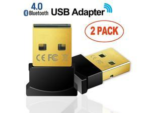 Balink Wireless Bluetooth CSR 4.0 USB Adapter Dongle for PC with Windows 10 8 7 Vista XP 32/64 Raspberry Pi Linux Black -- 2 Pack Bluetooth Dongle