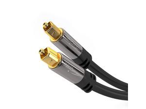 Audio cable,Optical Digital Audio Cable (10 Feet), Home Theater Fiber Optic Toslink Male to Male Gold Plated ,Optical Cables Best For Playstation & Xbox - PRO Series ,support 5.1 to 7.1 surround sound