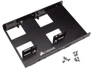 """Dual Hard Disk Drive SSD Mounting Kit Bracket, Dual SSD Mounting Bracket 3.5"""" ,Adjustable mounting holes Fits in any form factor desktop computer case 2 x 2.5"""" Drive to 3.5"""" Bay"""