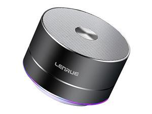 Portable Wireless Bluetooth Speaker with Built-in-Mic, Handsfree Call, AUX Line, TF Card, HD Sound and Bass for iPhone Ipad Android Smartphone and More,33 ft Wireless range support - Grey/Black