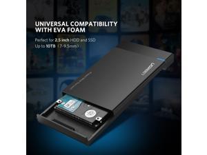 External Hard Drive Enclosure Adapter USB 3.0 to SATA Hard Disk Case Housing for 2.5 Inch 9.5mm 7mm WD, Seagate, Toshiba, Samsung, Hitachi SATA III, HDD, SSD 10TB, PS4,Tool Free UASP