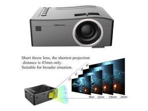 UC18 Mini Portable video Projector Full HD 1080P LCD LED Home Theater Cinema Mini Portable video Projector Support USB TV VGA SD AV Multi language