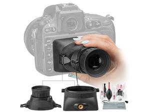 Hoodman HoodLoupe Outdoor LCD Viewfinder 3.0 Screens Xpix Cleaning Kit