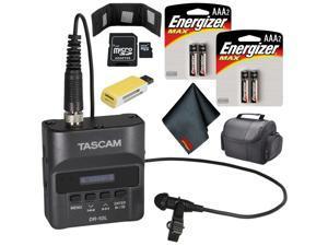 Tascam DR-10L Digital Audio Recorder with Lavalier Mic (Black) Standard Bundle