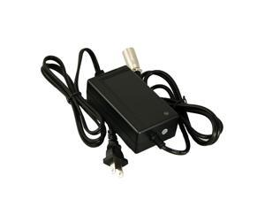 """24V 2A XLR Scooter Battery Charger For Currie e-ride 16"""" Folding, Currie Phat Flyer, Currie Phat Phantom"""
