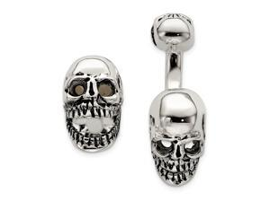 925 Sterling Silver Reversable Moveable Skull Cuff Links Jewelry Gifts for Men