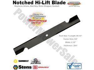 BULK Notched Hi-Lift Blade FITS Exmark 103-2531-S 103-2531 1-643006 643006