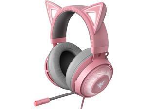 Razer Kraken Kitty Edition PC Gaming Headset - THX Spatial Audio - Quartz Pink