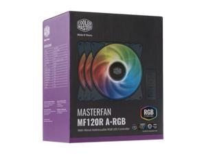 Cooler Master MasterFan MF120R Addressable RGB 120mm Fan, 3 in 1 with ARGB LED Controller, Independently-Controlled LED. R4-120R-203C-R1.