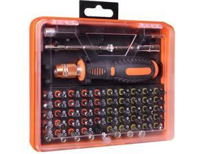 53 Pcs Assorted Bits Screwdriver Tool Kit in Case w/ Extension Bars & Tweezers