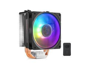 Cooler Master HYPER 212 ARGB EDITION CPU Cooler - 4 CDC Heatpipes, Addressable RGB SF120R PWM Fan & Wired ARGB Controller Included