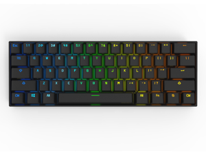 Anne Pro 2 60% Mechanical Keyboard Wired/Wireless Dual Mode Full RGB Double Shot PBT - Cherry MX Red