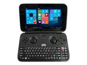 GPD Win Aluminum Shell Version 5.5 inch Gamepad Tablet PC Intel Atom X7 Z8750 Windows 10 OS 4GB/64GB Game Console Quad Core 2.56GHz Gorilla Glass Touch Screen 1280*720 Type-C - Black(US Shipping)