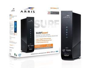 ARRIS SURFboard (24x8) DOCSIS 3.0 Cable Modem Plus AC2350 Dual-Band Wi-Fi Router, approved for Cox, Spectrum, Xfinity & more (SBG7400AC2) (Certified Renewed)