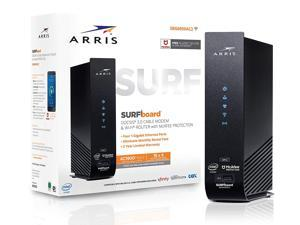 ARRIS SURFboard (16x4) DOCSIS 3.0 Cable Modem Plus AC1900 Dual-Band Wi-Fi Router, 686 Mbps Max Speed, Certified for Comcast Xfinity, Spectrum, Cox & more (SBG6950AC2) (Certified Renewed)
