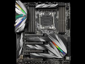 MSI MEG X299 CREATION Intel LGA 2066 Extended ATX M.2 Desktop Motherboard A