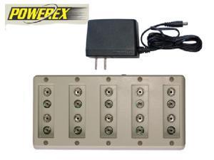 Powerex 10 Bay 9 Volt Smart Battery Charger