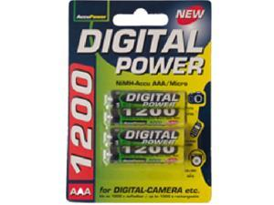 4-Pack AAA NiMH AccuPower Micro Batteries (1200 mAh)